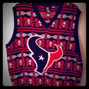 NFL Texans ugly sweater vest